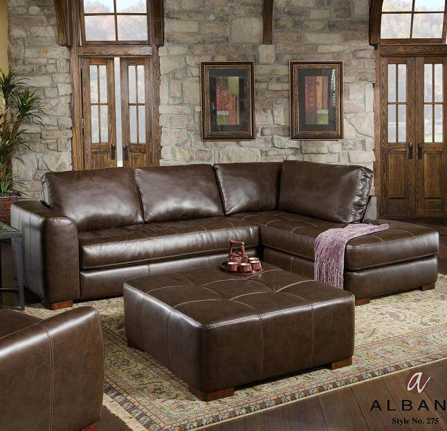 Dark Brown Albany Sectional