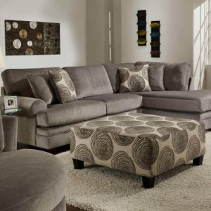 Albany 275 Como Grey 2pc Bonded Leather Sectional Br