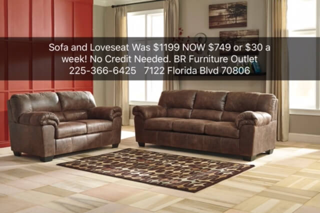 Model 120 Coffee Sofa And Loveseat BR Furniture Outlet