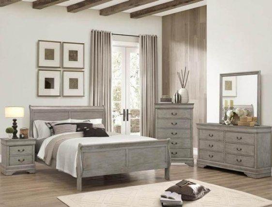 Model 3500 Grey Sleighbed Bedroom Set Br Furniture Outlet